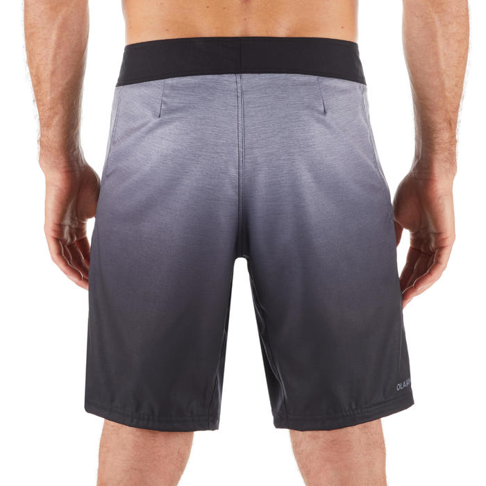 Surf boardshort standaard 500 Gradient Grey