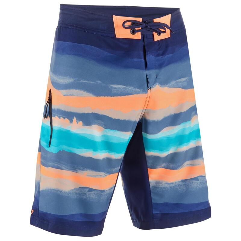 500 Long Surfing Boardshorts - Paint Block Red