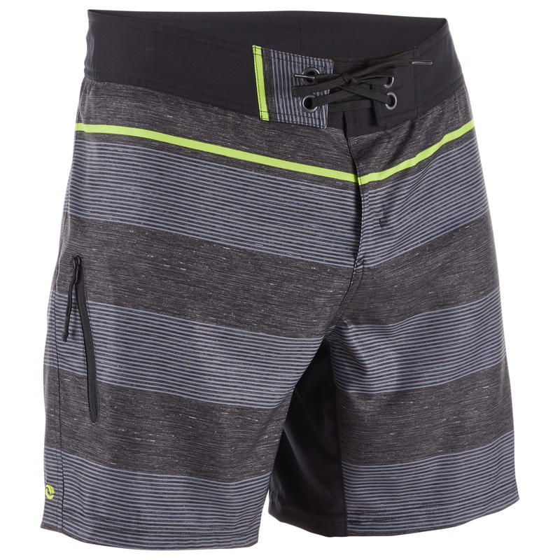 500 Short Surfing Boardshorts - Lines Black