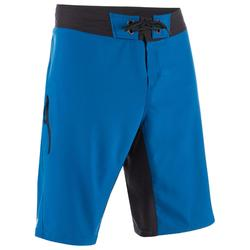 Surfing Long Boardshorts 500 - Plain Blue
