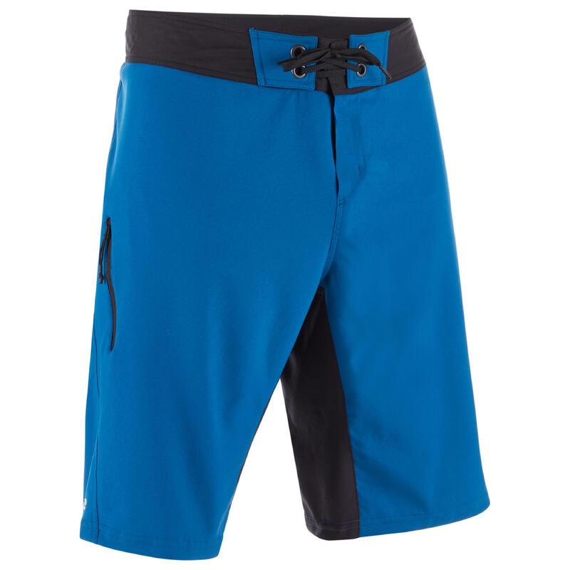 Lange zwembroek heren / boardshort 500 blauw