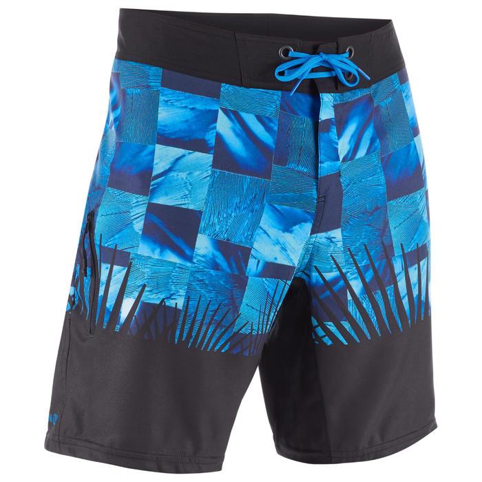 Heren zwembroek 500 Tropicsquare Blue