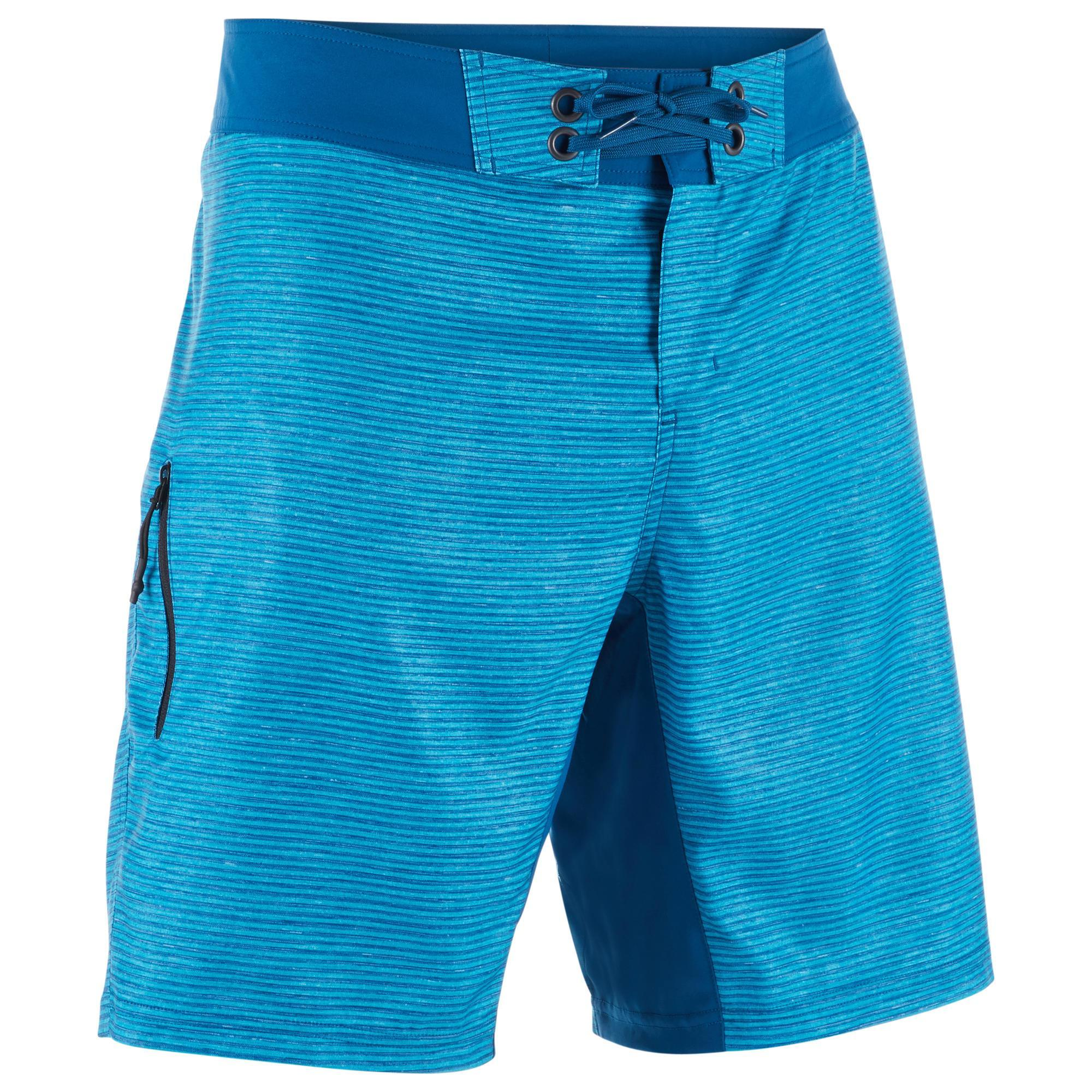 Herren Olaian Boardshorts Surfen Standard 500S Heather blau | 03583788022305