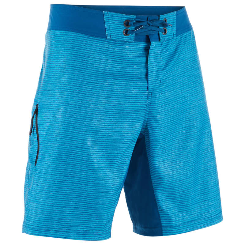 MEN'S INTERMEDIATE BOARDSHORTS Swimming - BS 500S - Heather Blue OLAIAN - Swimwear