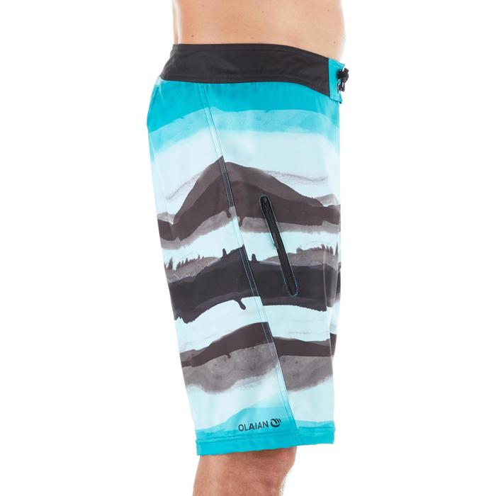 Surf Boardshort long 500 Paint Block Frozen