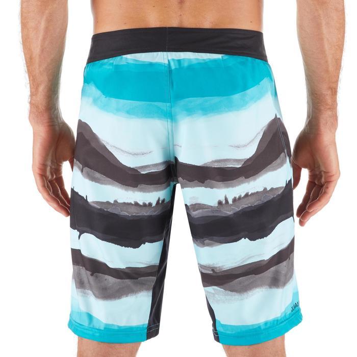 "Bañador Largo Surf 500 Paint Block Frozen Hombre Azul negro 20"""