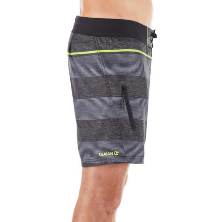 Surfing Short Boardshorts 500 - Line Black