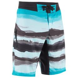 Lange Boardshorts Surfen 500 Paint Block Frozen
