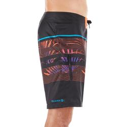 Surf boardshort standard 500 Floralmix Red