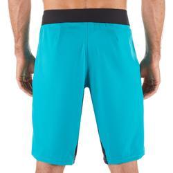 """Bañador Largo Surf 500 Liso Hombre Azul turquesa 20"""""""