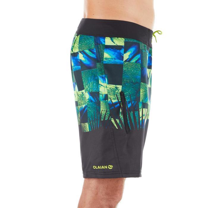 "Bañador Corto Surf Olaian 500 Tropicsquare Hombre Verde 18"""