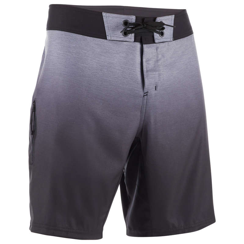 MEN'S INTERMEDIATE BOARDSHORTS Swimwear and Beachwear - BS 500S - Gradient Grey OLAIAN - Swimwear and Beachwear
