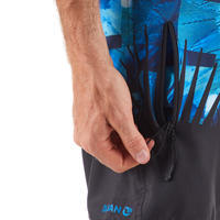 Surf short de bain standard 500 Tropicsquare Bleu