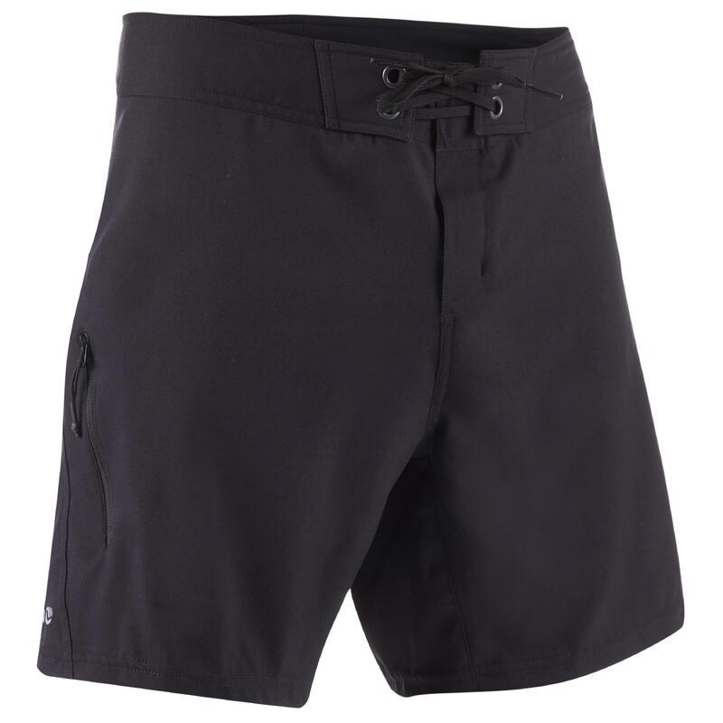 Erkek Deniz Şortu / Kısa Boardshort - Siyah - Bs 500