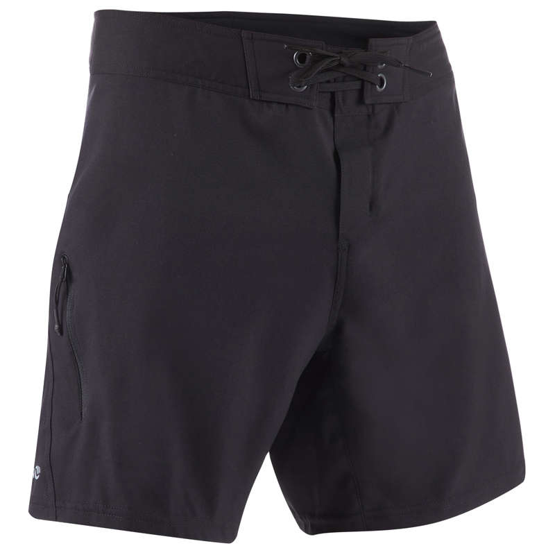 MEN'S INTERMEDIATE BOARDSHORTS Swimwear and Beachwear - BS 500C - Plain Full Black OLAIAN - Swimwear and Beachwear