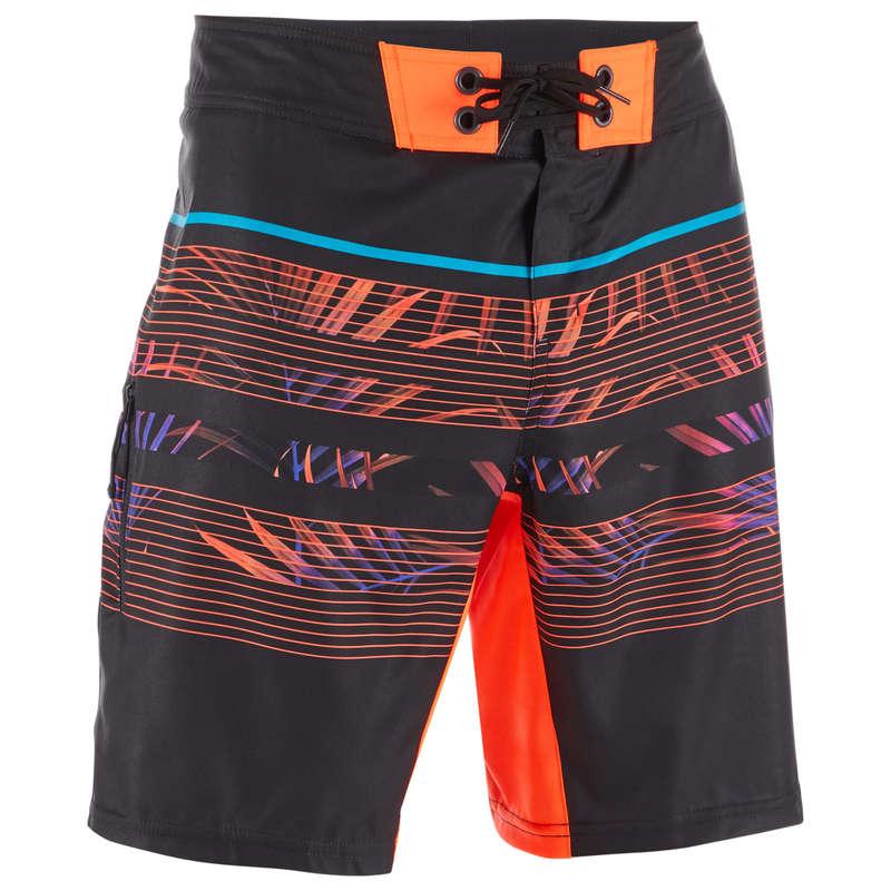 MEN'S INTERMEDIATE BOARDSHORTS Swimwear and Beachwear - BS 500S - Floralmix Red OLAIAN - Swimwear and Beachwear