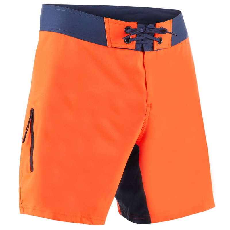 MEN'S INTERMEDIATE BOARDSHORTS Swimwear and Beachwear - BBS 500 - Plain Neon OLAIAN - Swimwear and Beachwear