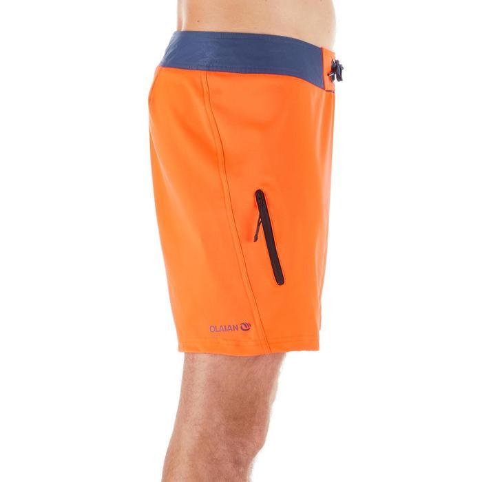 Korte zwembroek heren fluor oranje