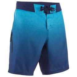 Calções de Praia de Surf standard 500 Gradiente azul