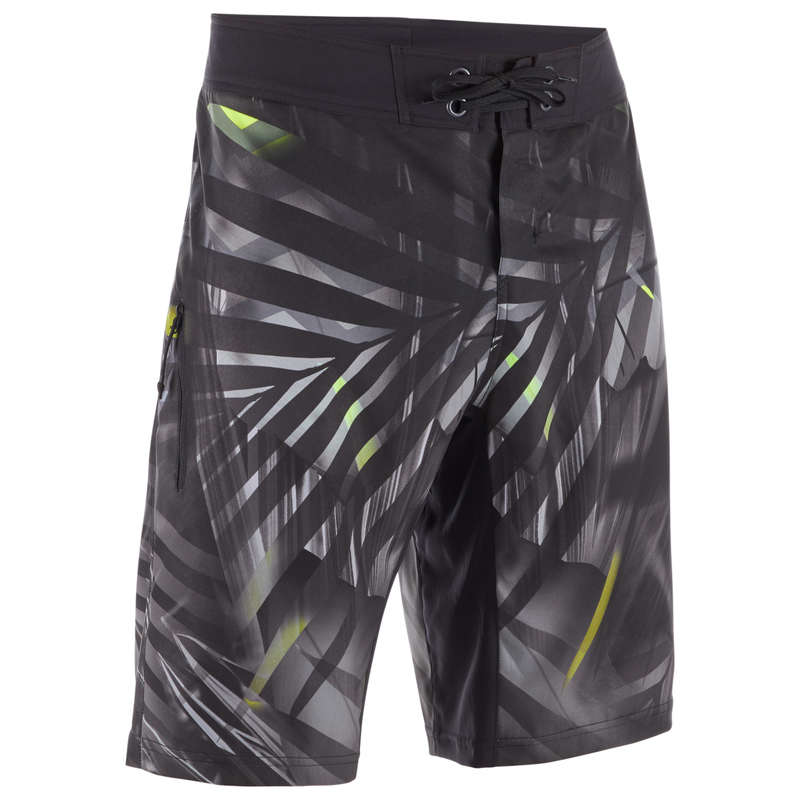 MEN'S INTERMEDIATE BOARDSHORTS Swimwear and Beachwear - BS 500L - Jungle Grey OLAIAN - Swimwear and Beachwear