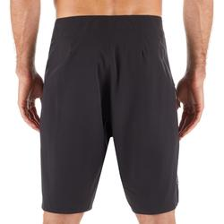 Lange heren zwembroek boardshort 900 Pure Black