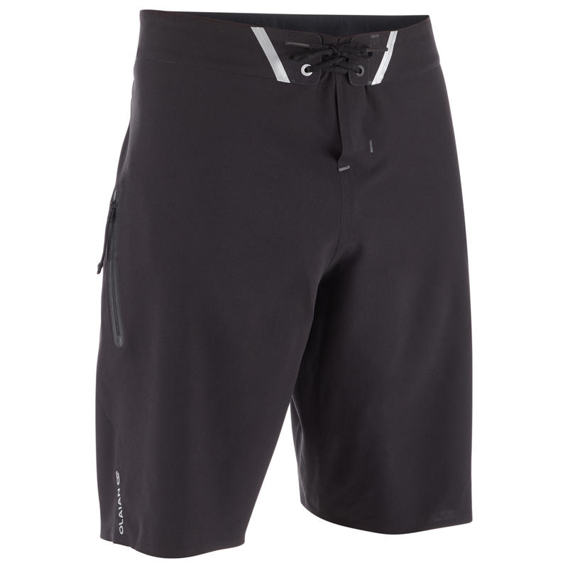 900 Long Surfing Boardshorts - Pure Black