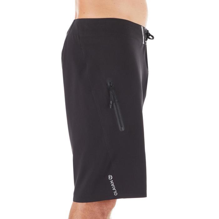 長版衝浪海灘褲900-純黑色