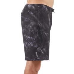長版衝浪海灘褲900-深灰色波浪款
