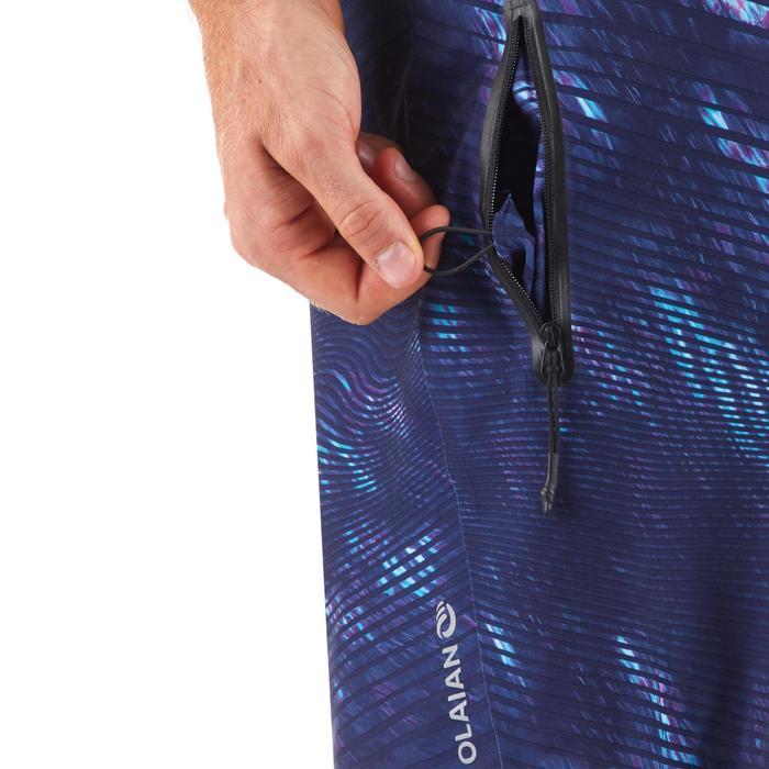 Lange Boardshorts Surfen 900 Obscur Wave blau