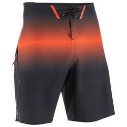 Lange heren zwembroek Boardshort 900 Light Red