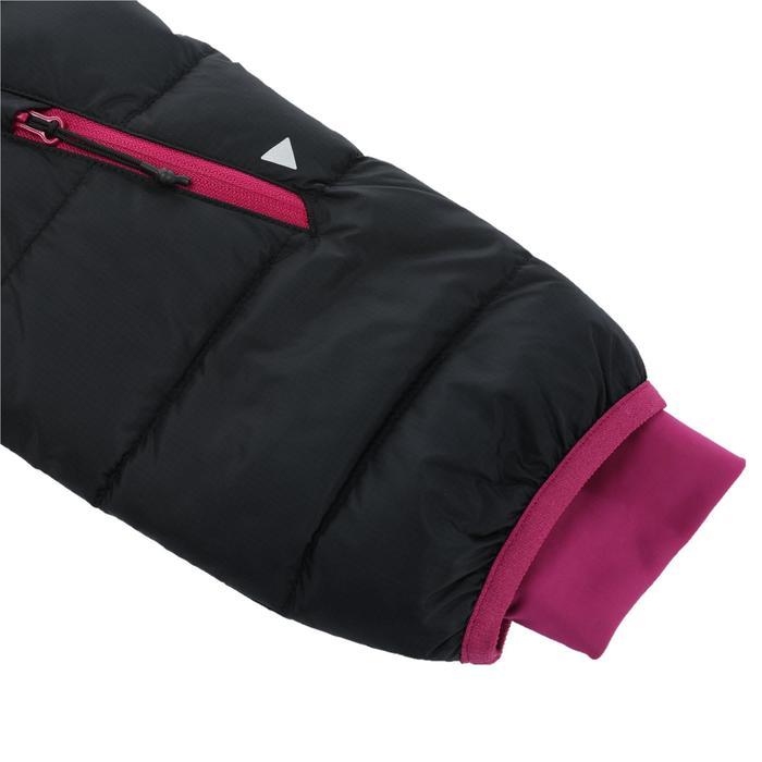女款保暖滑雪羽絨外套JKT 500 - 黑色