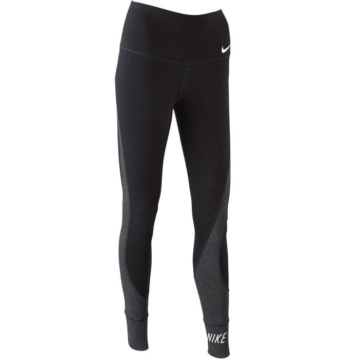 Legging Nike 100 Gym Stretching femme gris/noir