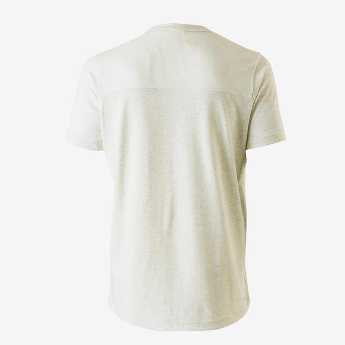 T-Shirt Douario 500 Regular Gym Stretching Herren weiß