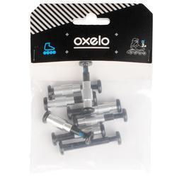 Set 10 ejes de rueda 8 mm roller platina plástico Oxelo