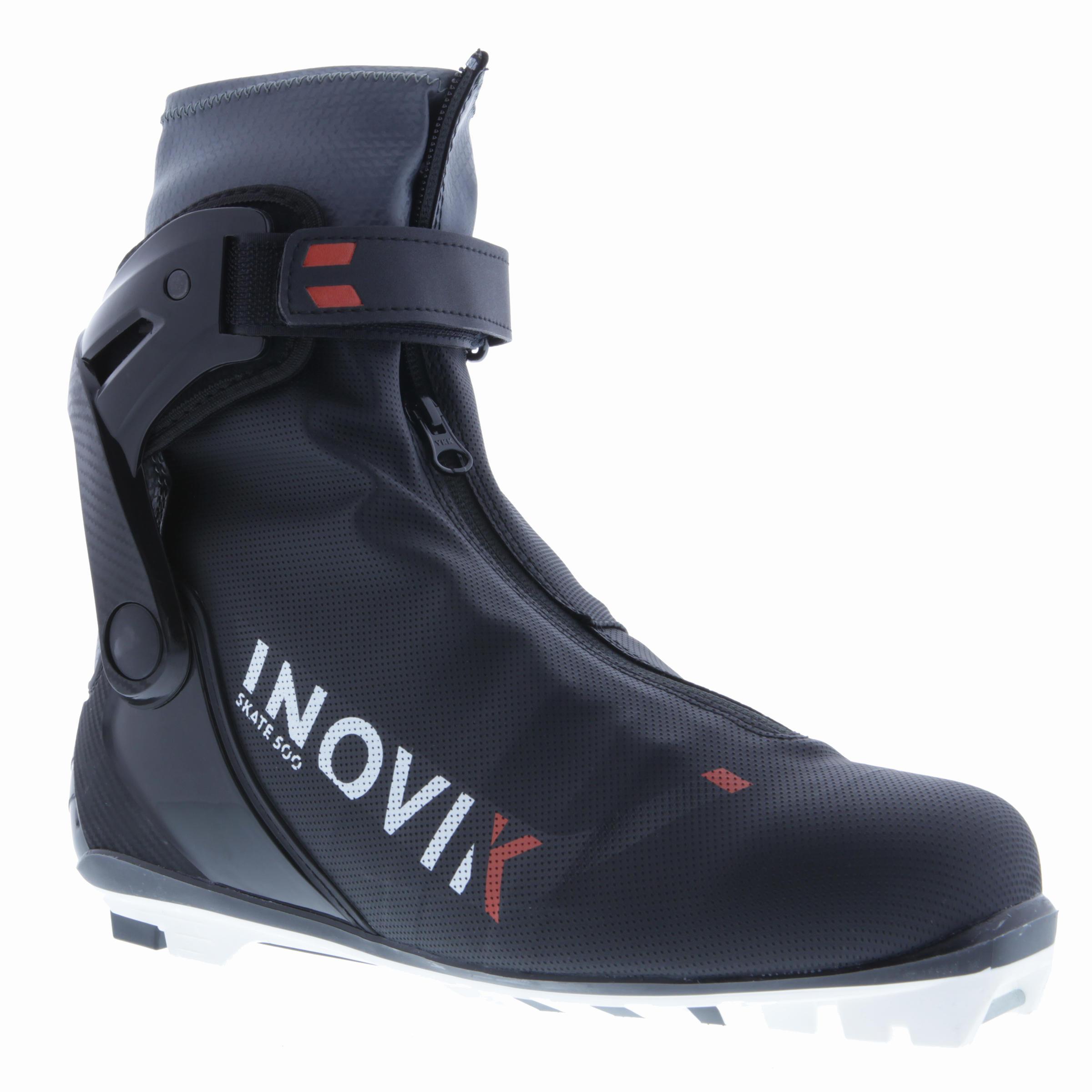 Chaussures de ski de fond pas de patin adulte XC S BOTTES 500 noir