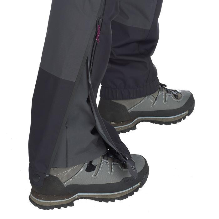 Sur-pantalon imperméable trekking en montagne   TREK500 Gris Foncé Femme