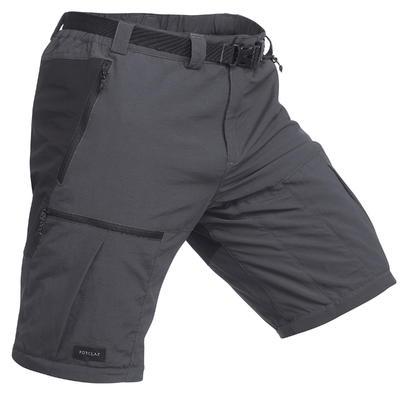 מכנסי גברים TREK 700 עם הפרדת רוכסן לטיולים בהרים - אפור כהה