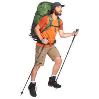 Short de rando montagne TREK 500 marron - Hommes