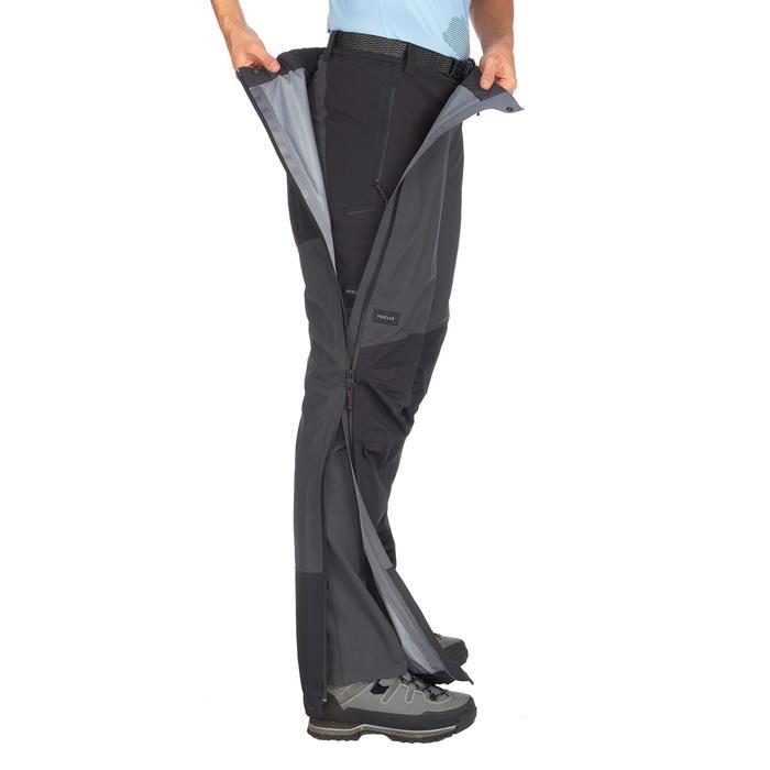 Waterproof mountain trekking over-trousers | TREK500 Dark Grey