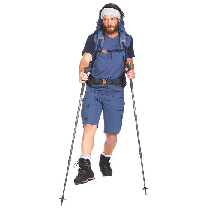 Short de trek montagne - TREK 500 bleu homme