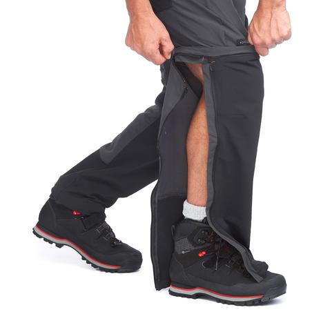 Pantalon modulable de rando montagne TREK 500 gris foncé - Hommes