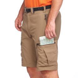 Short de trek montagne - TREK 500 marron homme