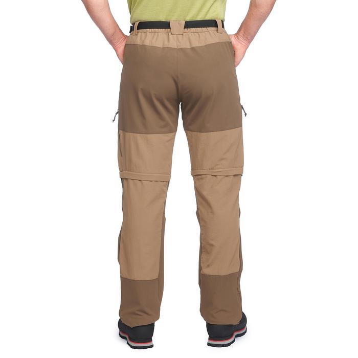 Pantalon modulable trekking montagne TREK500 homme marron