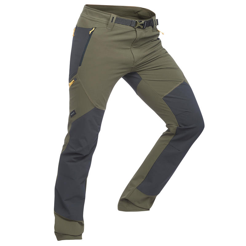 Men's mountain Trekking trousers - TREK 900 - Khaki
