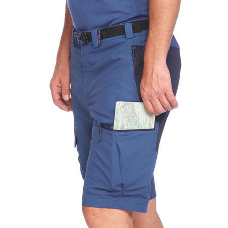 Short de rando montagne - TREK 500 bleu - Hommes