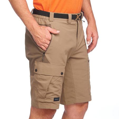 Celana pendek pendakian gunung TREK500 pria cokelat