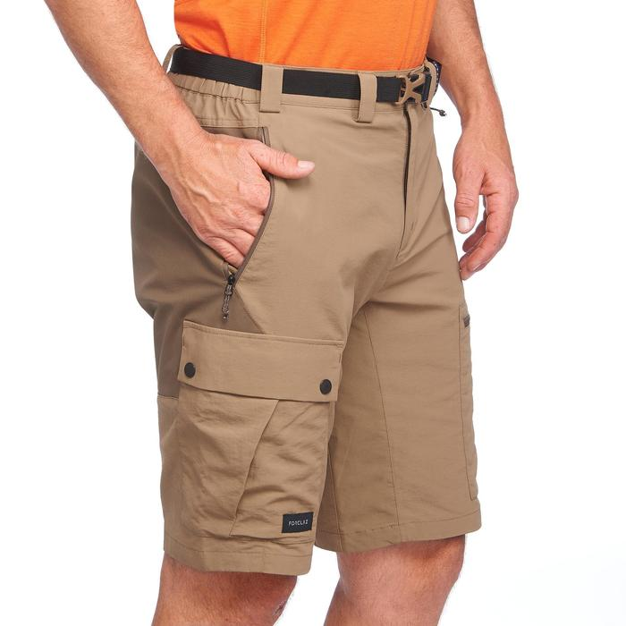 Short multi poches de trek montagne - TREK 500 marron homme