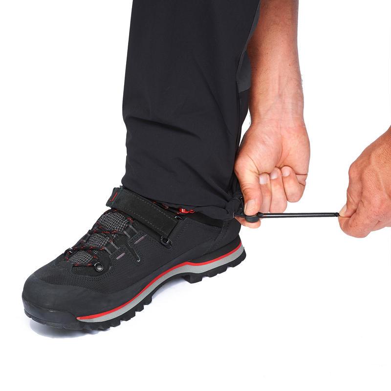 Men's Mountain Trekking Zip-Off Trousers - Trek 500 - Dark grey