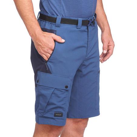 Men's blue mountain trekking shorts TREK500