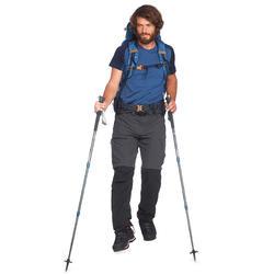 Pantalón Desmontable de Montaña y Trekking Forclaz Trek 500 Hombre Gris